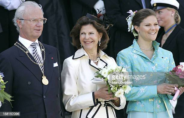 King Carl Gustaf, Queen Silvia & Crown Princess Victoria Of Sweden Attend The Tercentenary Birthday Celebrations For Carl Linnaeus In Sweden.Linnaeus...