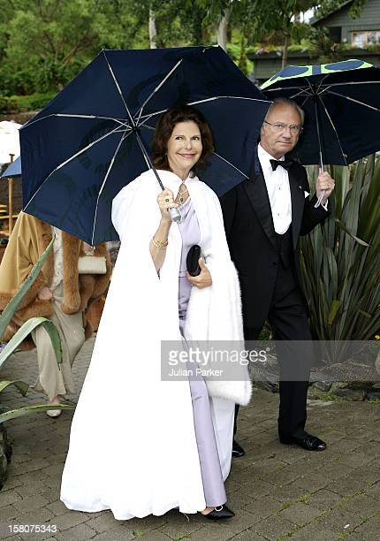 King Carl Gustaf Queen Silvia Of Sweden Attend Queen Sonja Of Norway'S 70Th Birthday CelebrationsDinner At 'Flor Og Fjaere' On The Island Of Sor Hidle