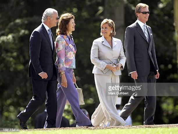 King Carl Gustaf Queen Silvia Of Sweden Attend The Silver Wedding Anniversary Celebrations Of Grand Duke Henri Grand Duchess MariaTheresa Of...