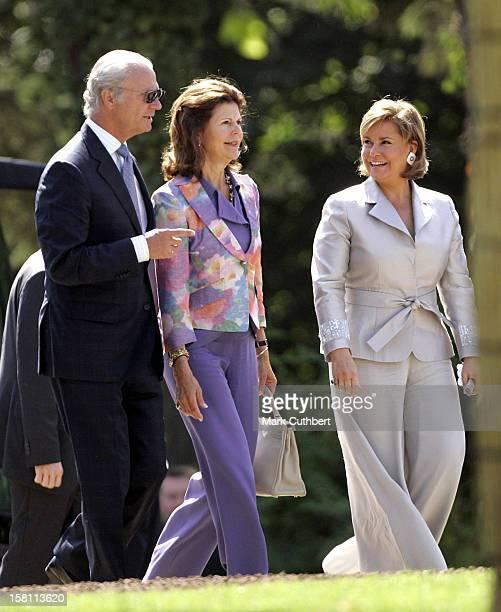 King Carl Gustaf & Queen Silvia Of Sweden Attend The Silver Wedding Anniversary Celebrations Of Grand Duke Henri & Grand Duchess Maria-Theresa Of...