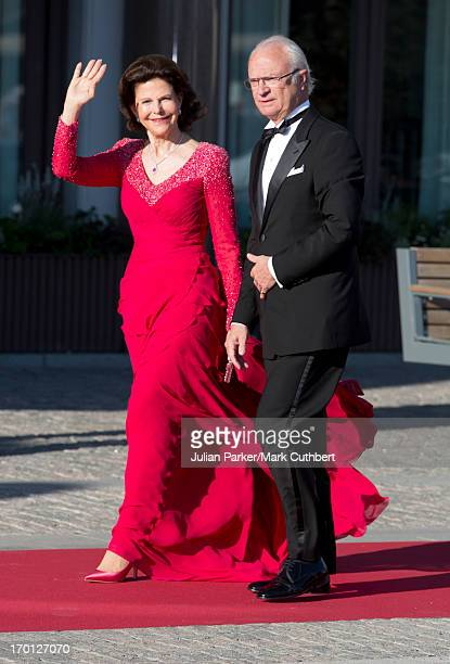 King Carl Gustaf XVI and Queen Silvia of Sweden attend a private dinner on the eve of the wedding of Princess Madeleine and Christopher O'Neill...