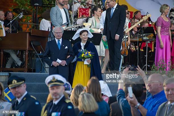 King Carl Gustaf XVI Queen Silvia of Sweden attends National Day Celebrations at Djurgarden on June 6 2015 in Stockholm Sweden