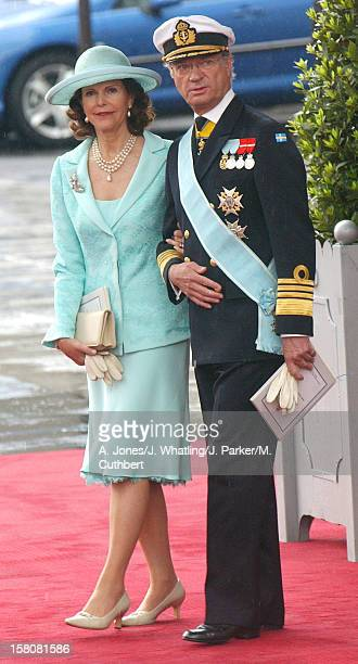 King Carl Gustav Queen Silvia Of Sweden Attend The Wedding Of Crown Prince Felipe Of Spain Letizia Ortiz Rocasolano In Madrid