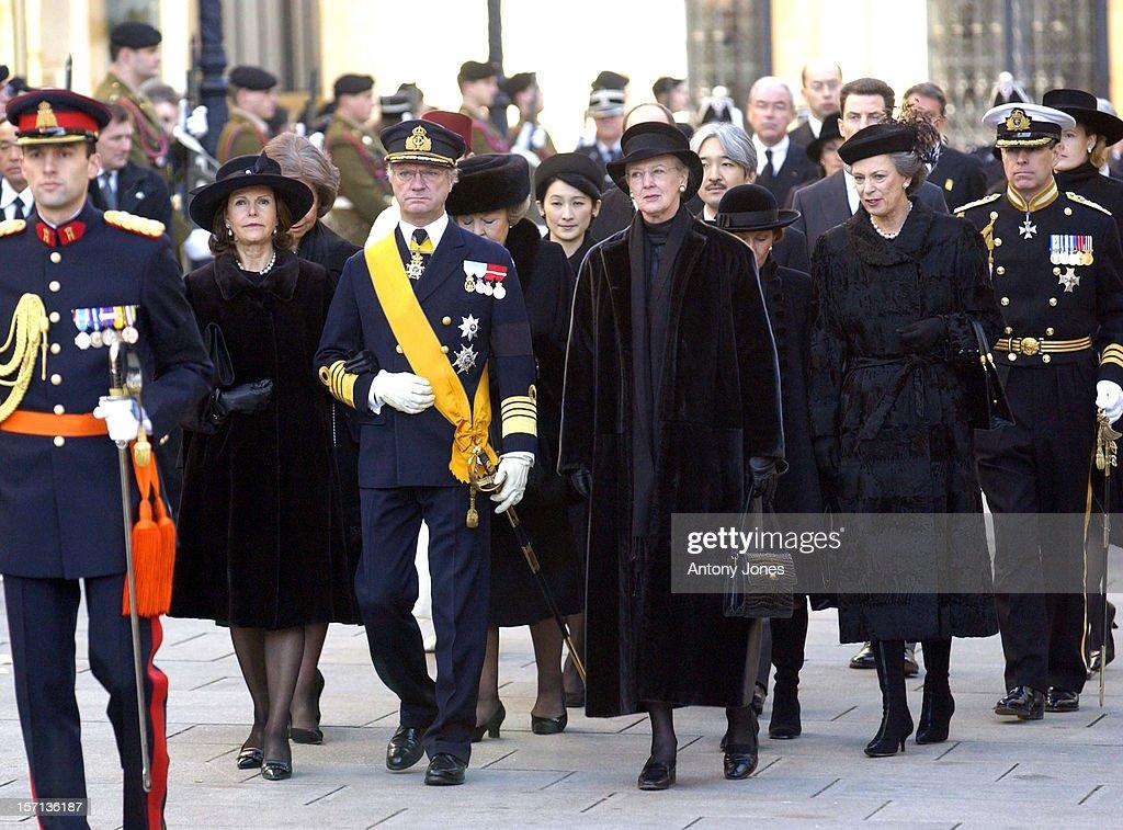 The Funeral Of Grand Duchess Josephine-Charlotte Of Luxembourg : News Photo