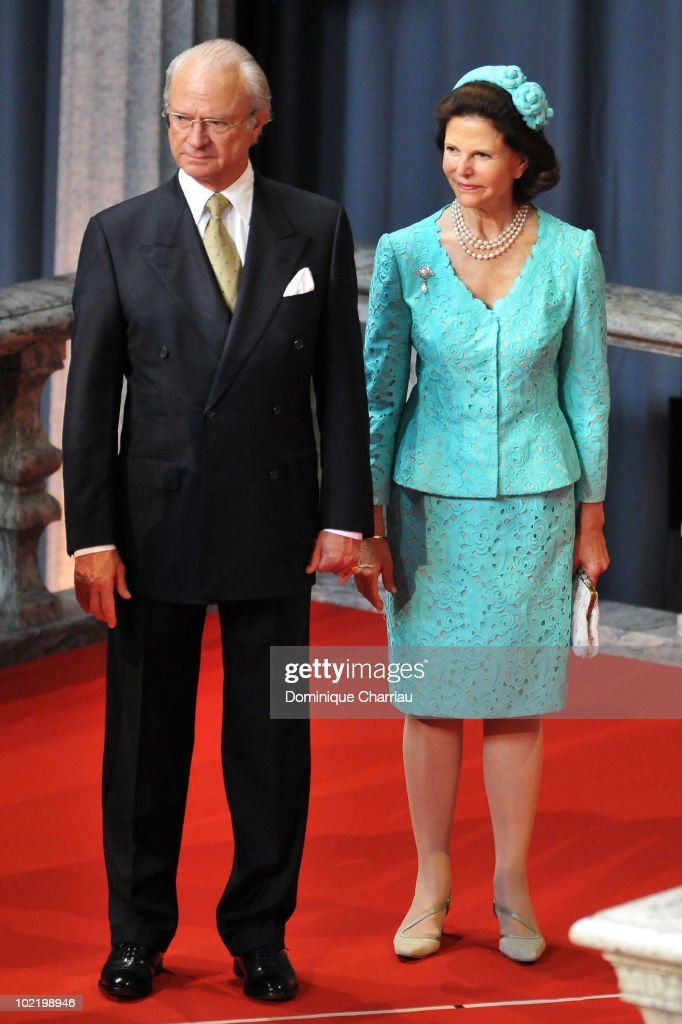 King Carl XVI Gustaf Of Sweden And Queen Silvia Attend The Government Pre Wedding Reception
