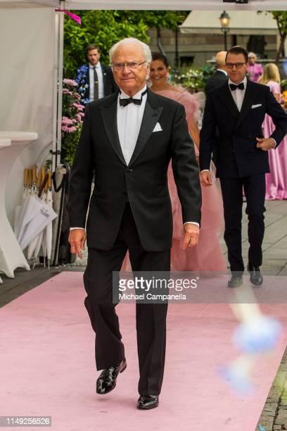 King Carl XVI Gustaf of Sweden arrives at the red carpet during the 2019 Polar Music Prize award ceremony on June 11, 2019 in Stockholm, Sweden.