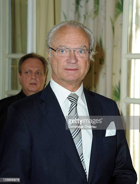 King Carl XVI Gustaf of Sweden attends Swedish Club 75th Anniversary at Swedish Club on September 22 2011 in Paris France