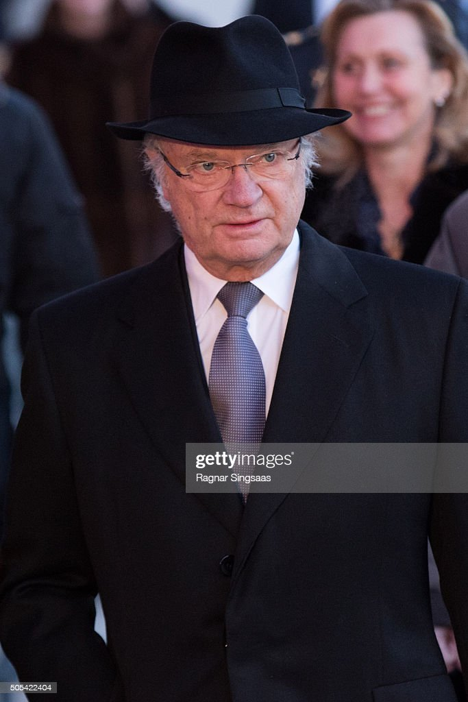 King Carl XVI Gustaf of Sweden attends the 25th anniversary of King Harald V and Queen Sonja of Norway as monarchs on January 17, 2016 in Oslo, Norway.