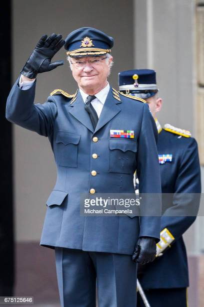King Carl XVI Gustaf of Sweden during a celebration of King Carl Gustav's 71st birthday at the Royal Palace on April 30 2017 in Stockholm Sweden