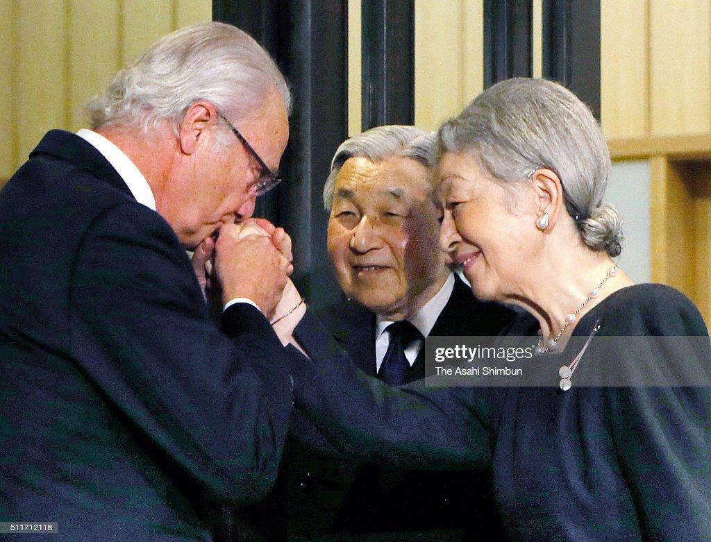 King Carl XVI Gustaf of Sweden Visits Japan : News Photo
