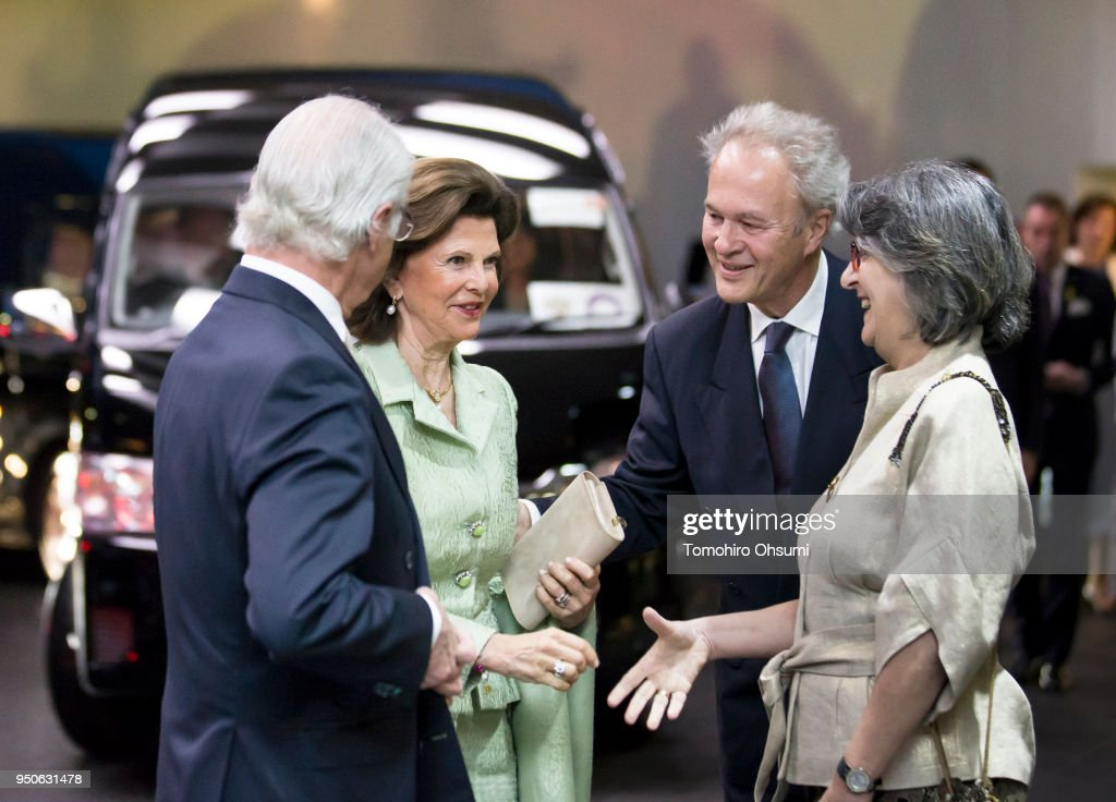 King Carl Gustav And Queen Silvia of Sweden Visit Japan - Day 3 : News Photo