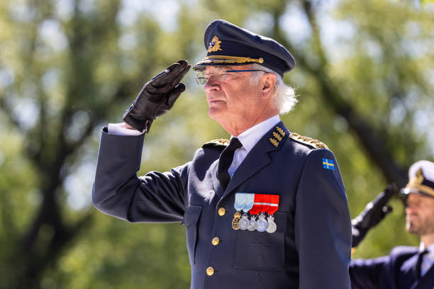 SWE: Swedish Royals Attend The Celebration Of Veterans Day