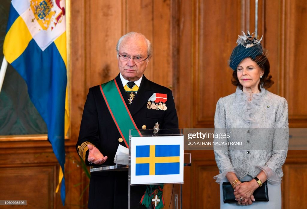 SWEDEN-ITALY-DIPLOMACY-ROYALS : News Photo