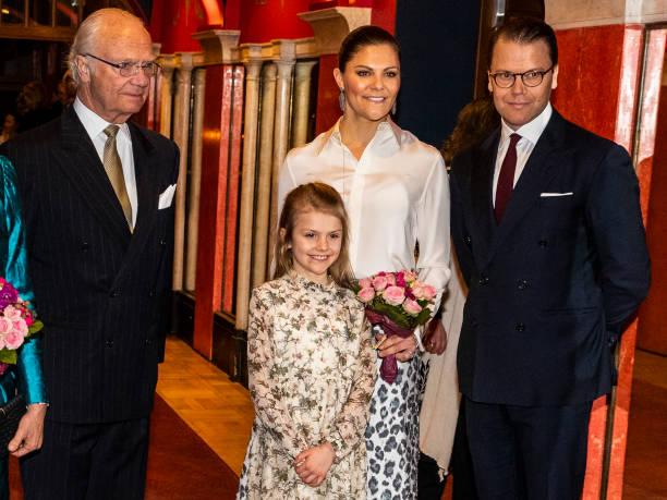 King Carl XVI Gustaf Princess Estelle Crown Princess Victoria and Prince Daniel of Sweden attend a concert hosted by Lilla Akademien a music school...