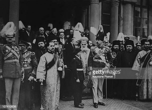 King Charles And Prince Michael At A Religious Service On New Year Day On January 1St 1932 In Bucharest In Romania