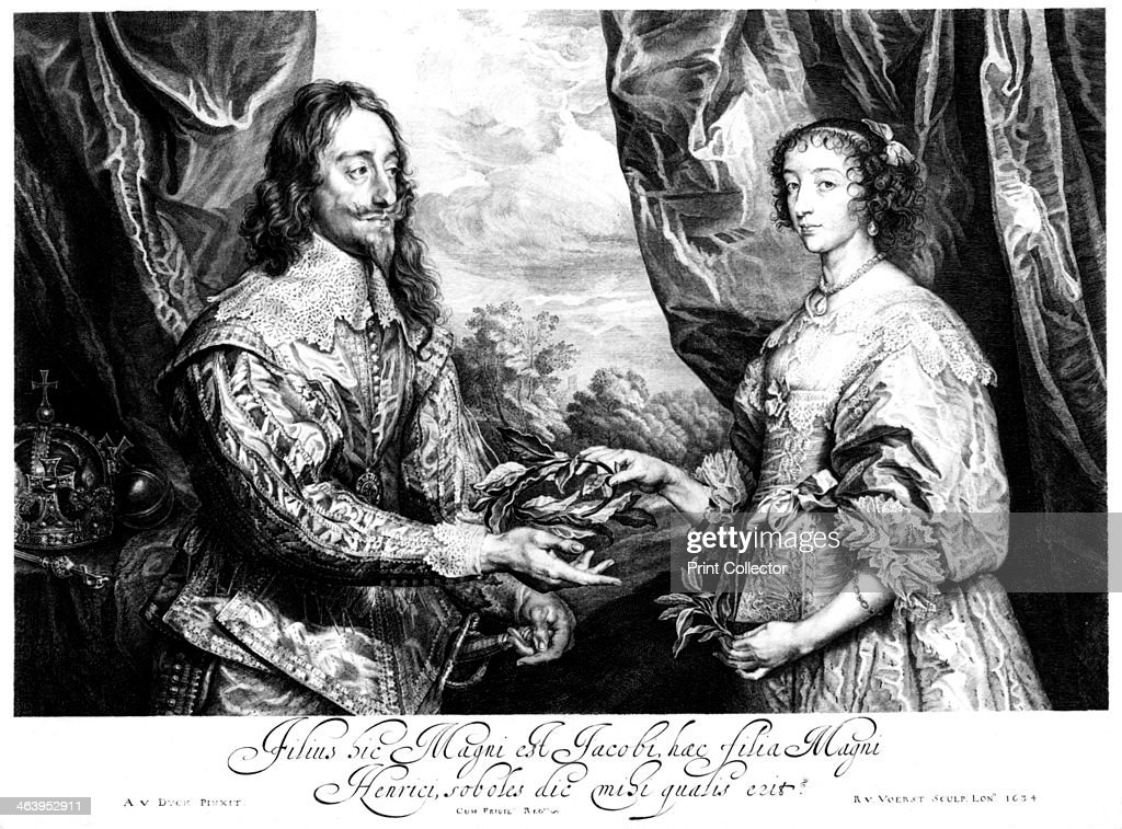 King Charles I (1600-1649) and Queen Henrietta Maria (1609-1669). : News Photo