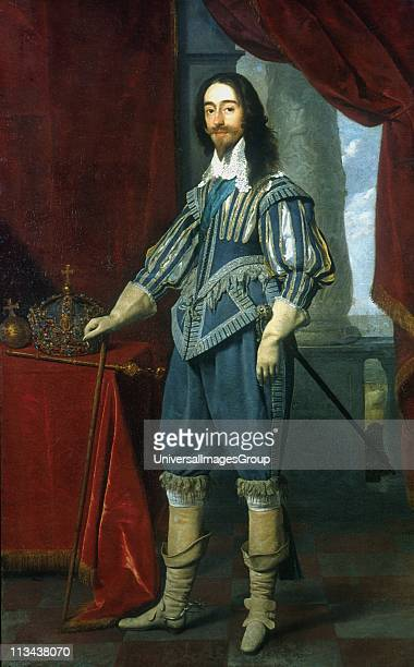 King Charles I of England 1631 Portrait oil on canvas by Dutch portrait painter Daniel Mytens