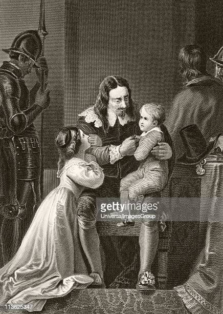 King Charles I of England bidding farewell to his children before his execution From The National and Domestic History of England by William Aubrey...