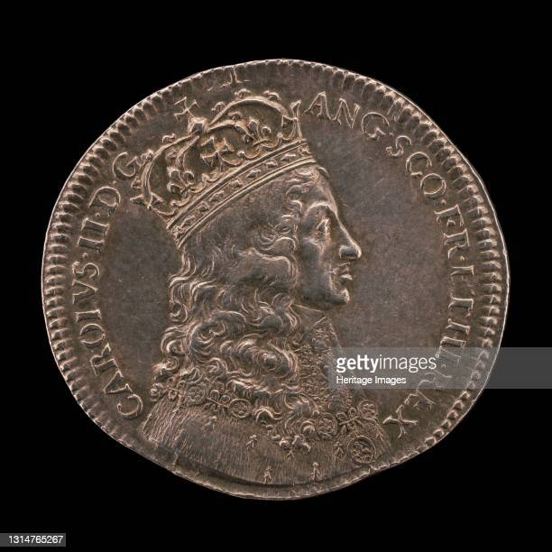 King Charles II in Coronation Robes [obverse], 1661. Artist Thomas Simon.