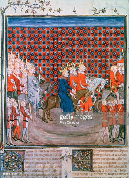 King Charles IV entering Paris King Charles V of France Emperor Charles IV and his son the future Wenceslas IV followed by bishops and escorted by...