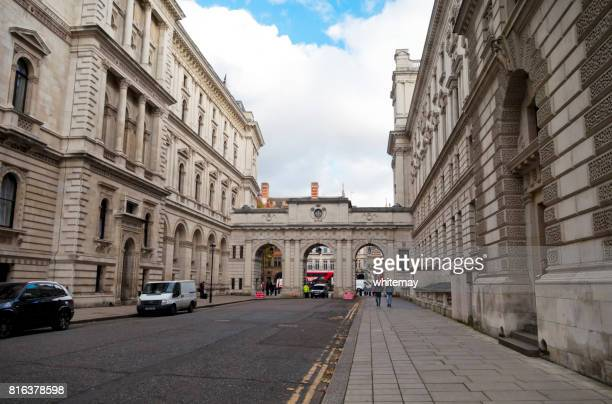 king charles street, westminster, london - whitehall london stock photos and pictures