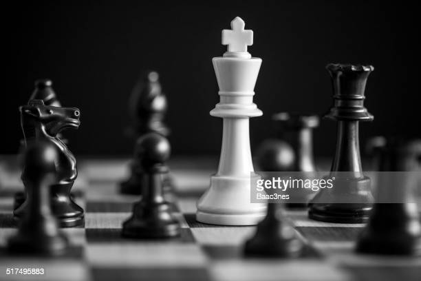 King chess piece surrounded....