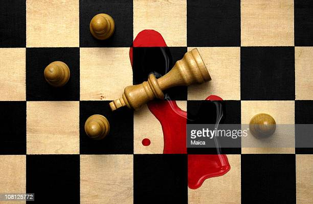 King Chess Piece with Blood