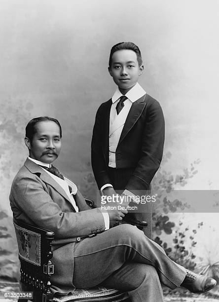 King Chulalongkorn of Thailand with his son