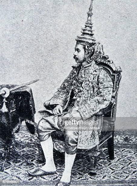 King Chulalongkorn or Rama V fifth monarch of Siam Chulalongkorn on his throne crowned