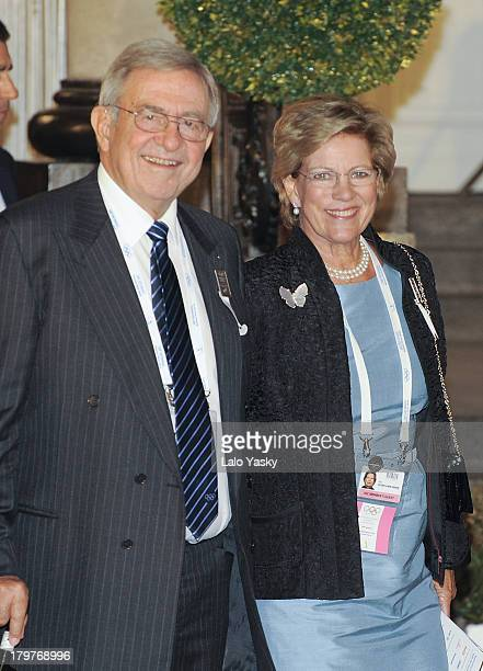 King Constantin of Greece and Queen AnneMarie of Greece attend the 125th IOC Session opening ceremony at Teatro Colon on September 6 2013 in Buenos...