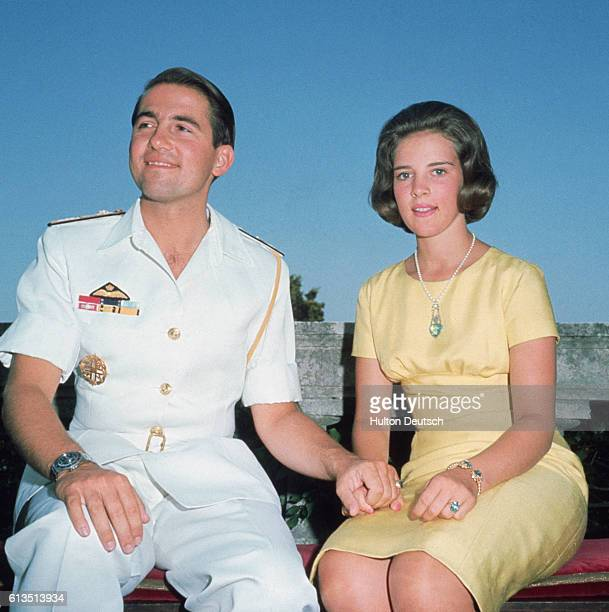King Constantine and Fiance Anne-Marie of Denmark