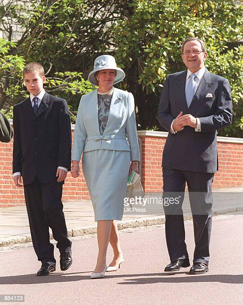 King Constantine and Queen Anne Marie of Greece attend the Duke of Edinburgh's 80 the birthday June 10 2001 at The Windsor Castle in London