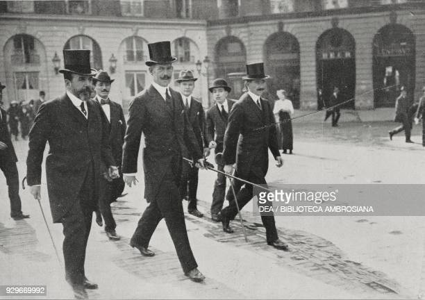 King Constantine I of Greece in Paris, France, from L'Illustrazione Italiana, Year XL, No 39, September 28, 1913.