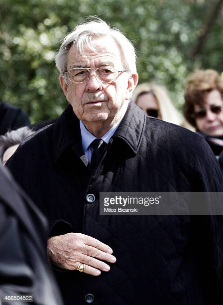 King Constantine II attends a dirge and the Orthodox Mass in memory of King Paul in the cemetery at Tatoi Palace on the anniversary of her father...