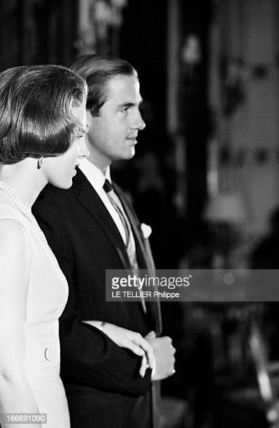 King Constantine Ii Of Greece And Princess AnneMarie Of Denmark Le 9 septembre 1964 portrait de profil de la princesse AnneMarie du Danemark et du...