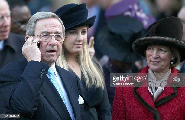 King Constantine Ii Of Greece And Queen Anne-Marie Of Greece Attends A Service Celebrating Queen Elizabeth Ii And Prince Philip, The Duke Of...