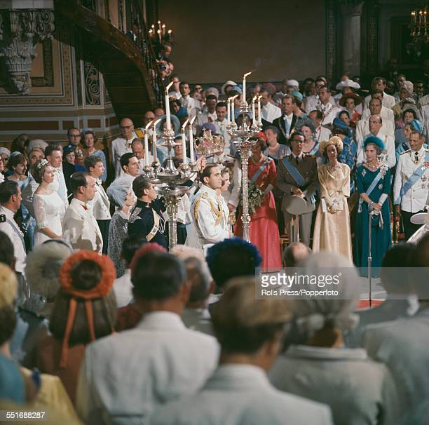 King Constantine II of Greece marries Princess AnneMarie of Denmark in a ceremony at the Metropolitan Cathedral of Athens in Athens Greece on 18th...