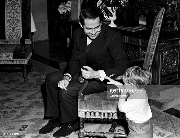 King Constantine of Greece at the Zarzuela Palace with his son Paul Madrid Spain