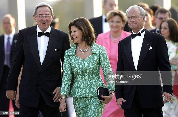 King Constantine Of Greece King Carl Gustaf Queen Silvia Of Sweden Attend The Silver Wedding Anniversary Celebrations Of Grand Duke Henri Grand...