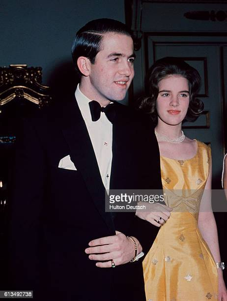 King Constantine Of Greece With His Fiancee Princess Anne-Marie Of Denmark.