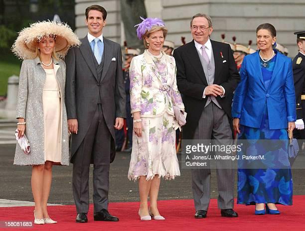 King Constantine Queen AnneMarie Crown Prince Pavlos Crown Princess Marie Chantal Of Greece Attend The Wedding Of Crown Prince Felipe Of Spain...