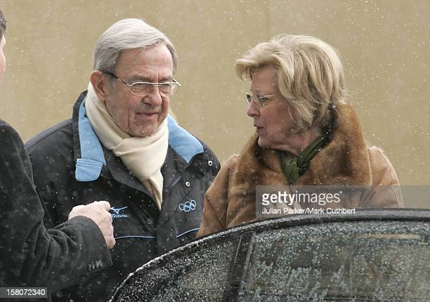 King Constantine Queen AnneMarie Of Greece Arrive At Oslo Airport For King Harald Of Norway'S 70Th Birthday Celebrations