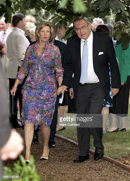 King Constantine Queen AnneMarie Of Greece Attend A Summer Party Hosted By David Frost At His Home In London