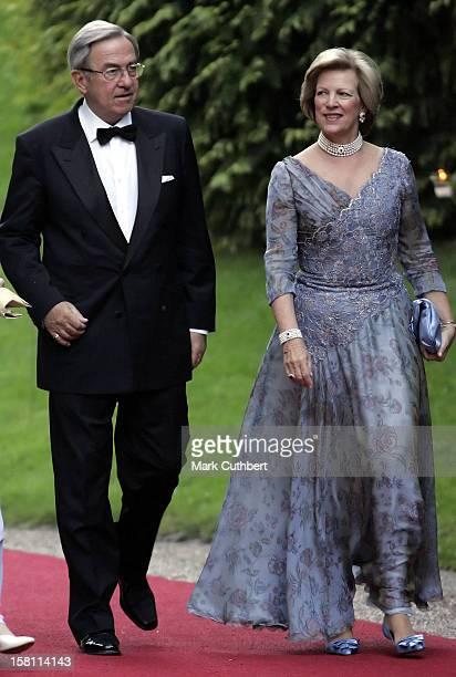 King Constantine Queen AnneMarie Of Greece Attend The Silver Wedding Anniversary Celebrations Of Grand Duke Henri Grand Duchess MariaTheresa Of...