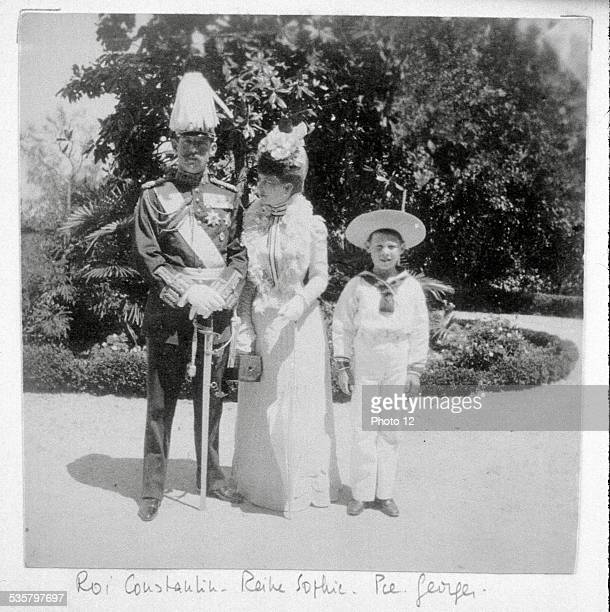 King Constantine , Queen Sophia of Prussia and Prince George .