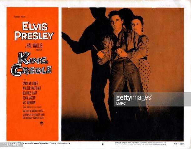 King Creole, poster, Elvis Presley, Dolores Hart, 1958.