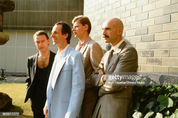 King Crimson at Hotel New Otani Garden December 1981 Tokyo Japan Robert Fripp Adrian Belew Tony Levin Bill Bruford