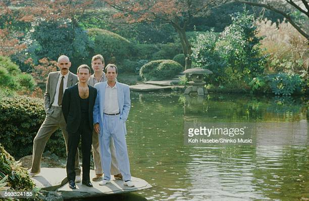 King Crimson in the hotel garden Tokyo December 1981