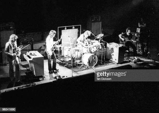 King Crimson perform live on stage in London in 1973 LR David Cross John Wetton Bill Bruford Robert Fripp