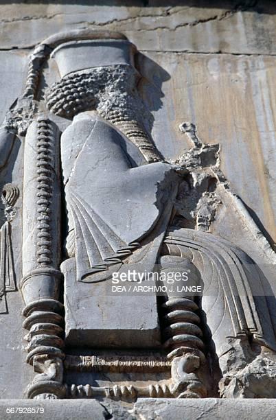 King Darius I basrelief Persepolis Iran Achaemenid civilisation 6th5th century BC Detail